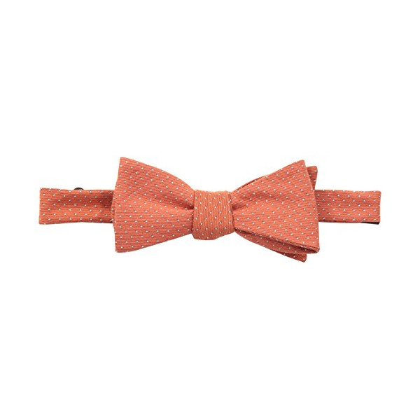 Original Penguin Men's Victoria Dot To-Be-Tied Bowtie, Coral, One Size
