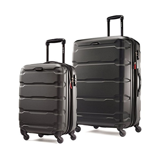 Samsonite Omni PC 2 Piece Set of 20 and 28 Spinner (One Size, Black)