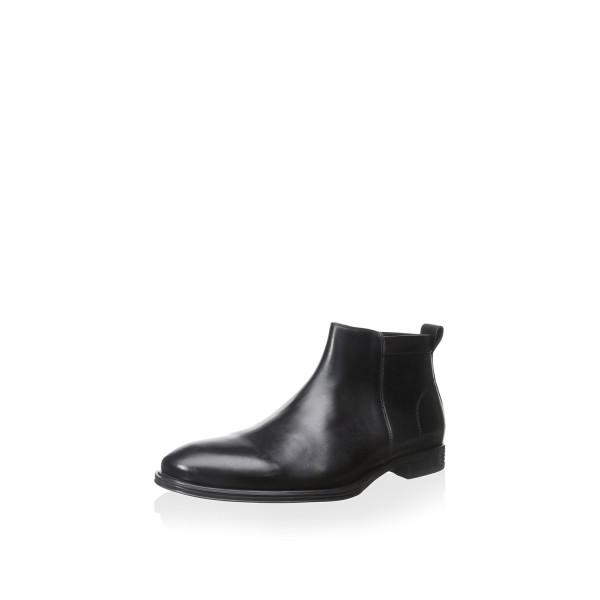 Franklin & Freeman Men's Moore Side Zip Casual Boot, Black, 10.5 M US