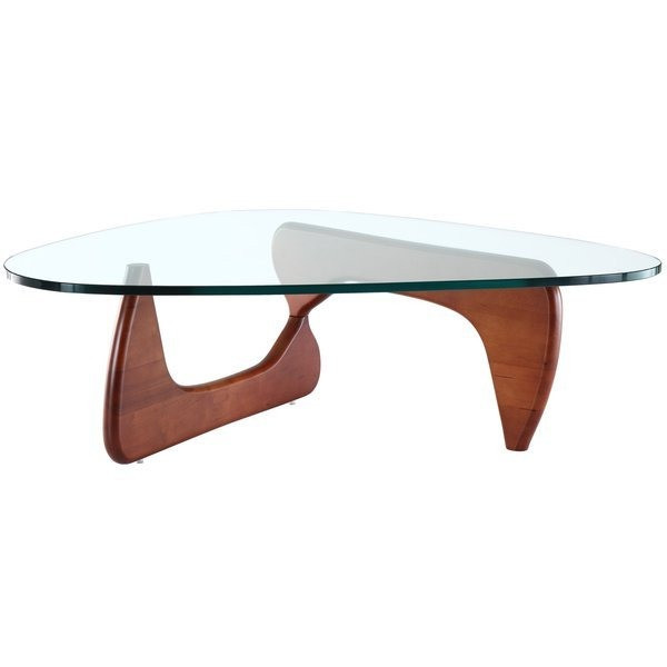 LexMod Isamu Noguchi Style Cherry Wood Coffee Table