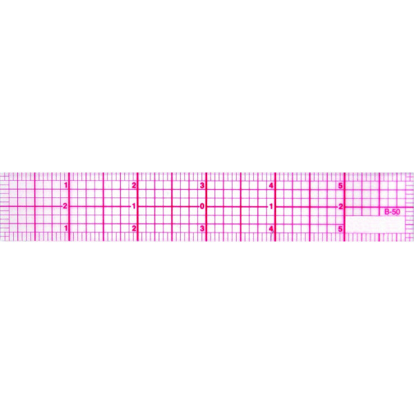 C-Thru 8ths 6-Inch Beveled Transparent Ruler (B-50)