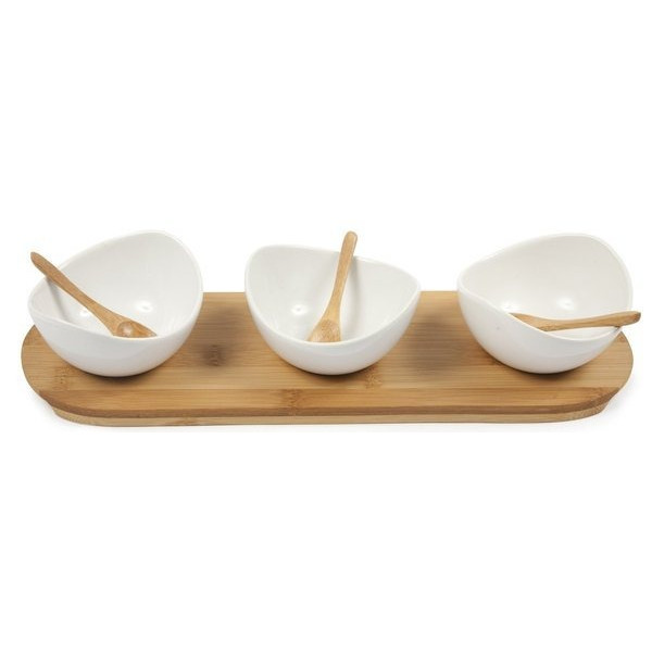 Core Bamboo 3-Part Swoop Entertainment Set, Natural