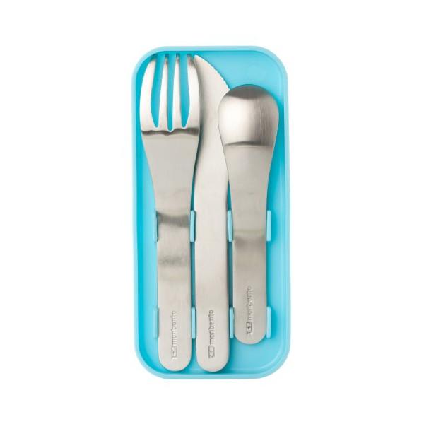 Monbento Nomad Cutlery Set, Sky Blue