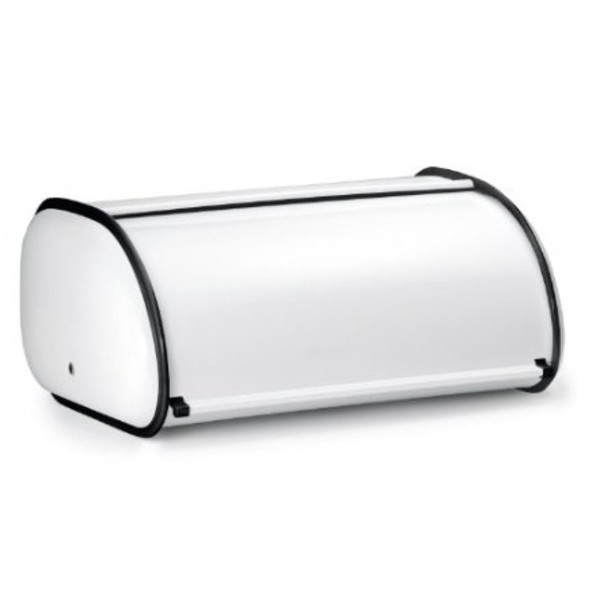 White Rolltop 2-Loaf Capacity Bread Box
