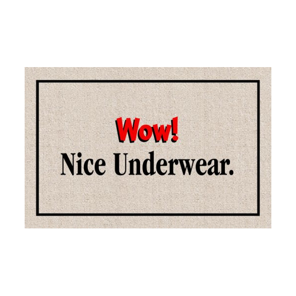 Wow! Nice Underwear Indoor/Outdoor Doormat