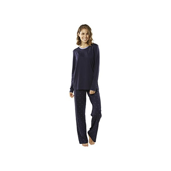 "jijamas®""The Shooting Star"" Women's Pajama Set Large (Tall) in Navy Blue"