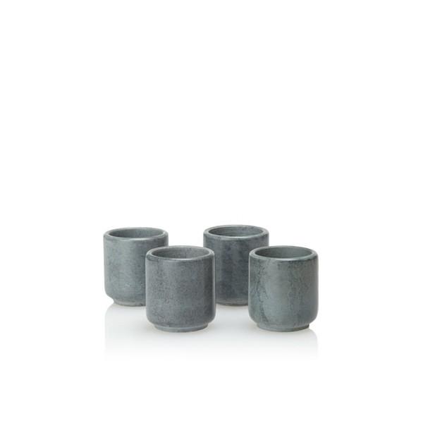 Teroforma S/4 Ekke Shot Glasses-Soapstone REK450002