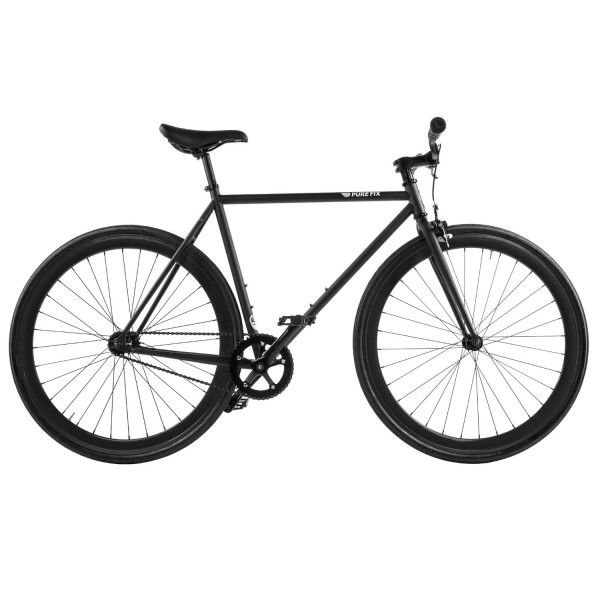 Pure Fix Cycles Fixed Gear Single Speed Urban Fixie Road Bike, Juliet Matte Black