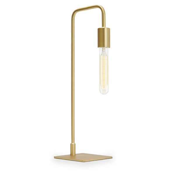 Satin Brass 1-Light Dimmable Table Lamp