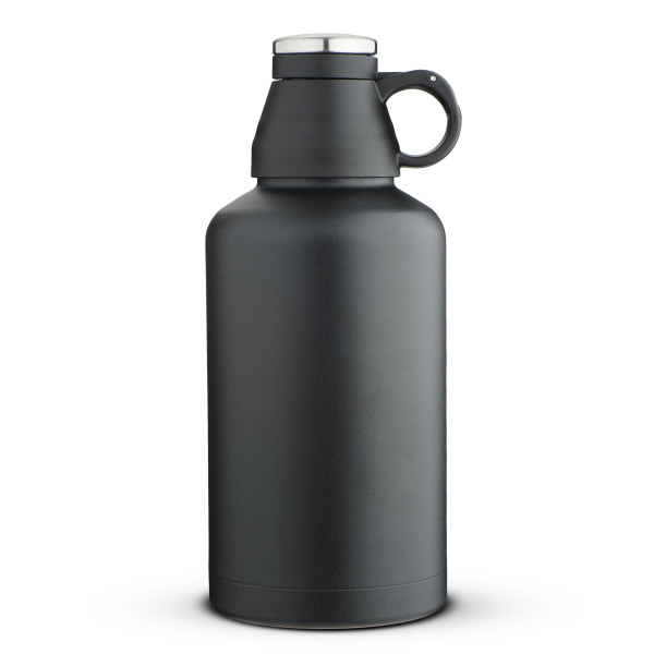 MIRA Beer Growler, Insulated Stainless Steel, Black