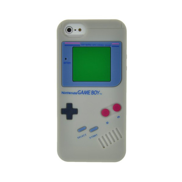 EarlyBirdSavings Gray Silicone Game Boy Style Case Cover Skin Protector for iPhone5 5TH 5G