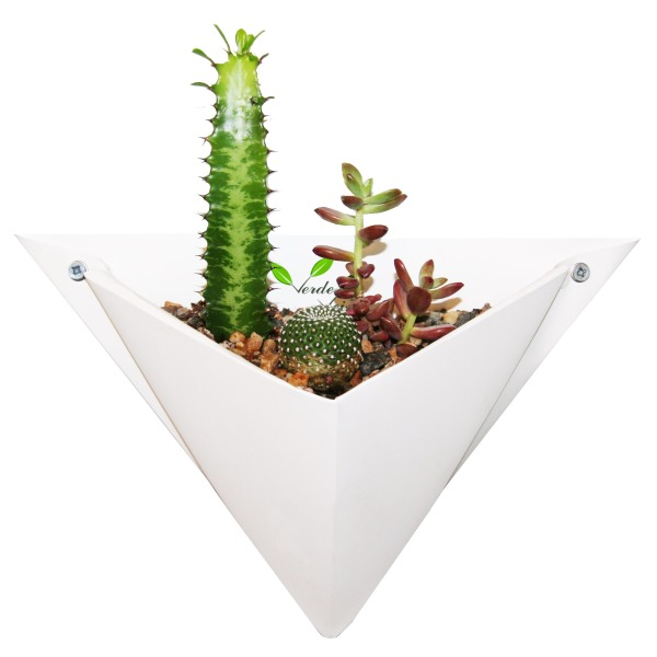 Origami Wall Planter - Single (White)
