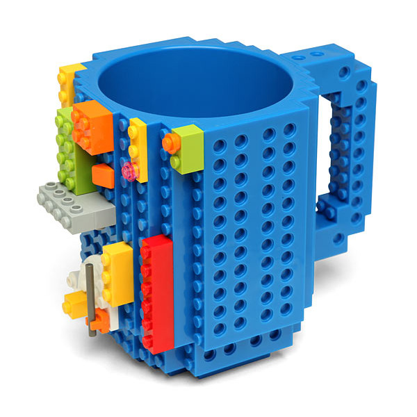 Build On Brick Blue Coffee Mug, Blue