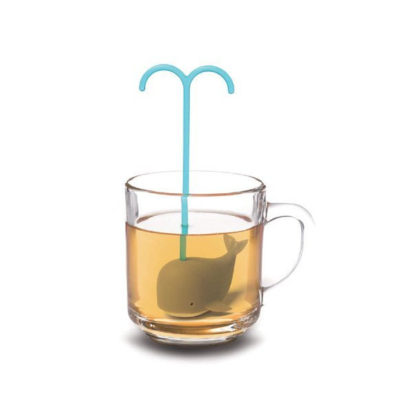 Fred Brew Whale Tea Infuser, Blue