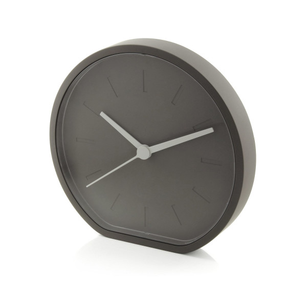Lexon Side Horloge Analogique, Analog Clock, Gris