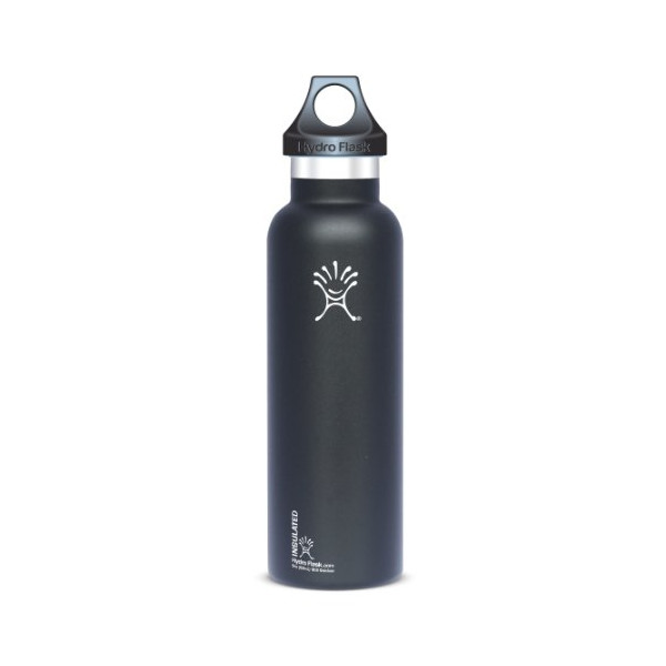 Hydro Flask Insulated Stainless Steel Water Bottle, Standard Mouth, Black Butte, 21-Ounce