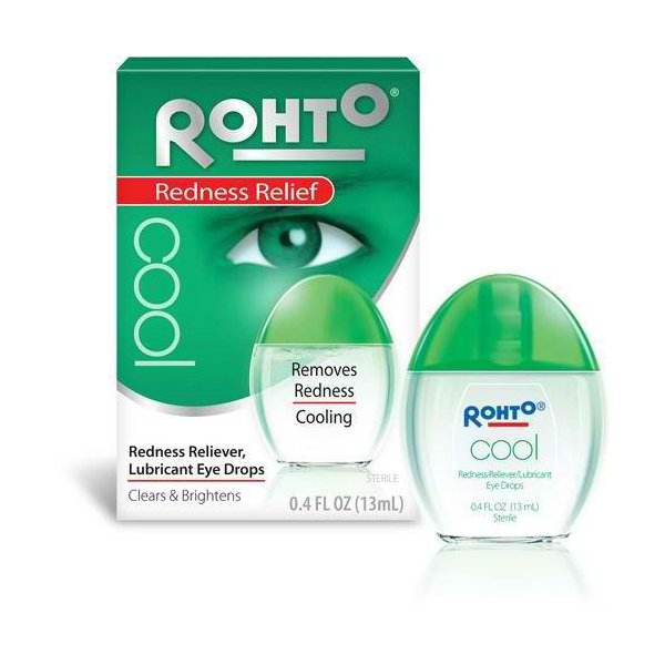 Rohto Cool Redness Relief Eye Drops 0.4oz- Made in Japan