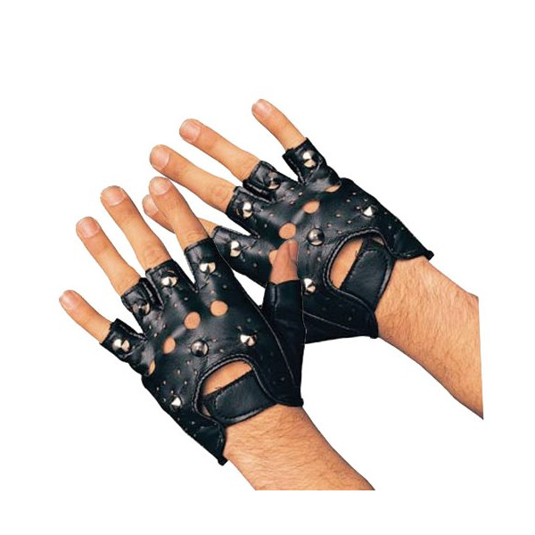 Rubie's Costume Studded Gloves, Black, Adult