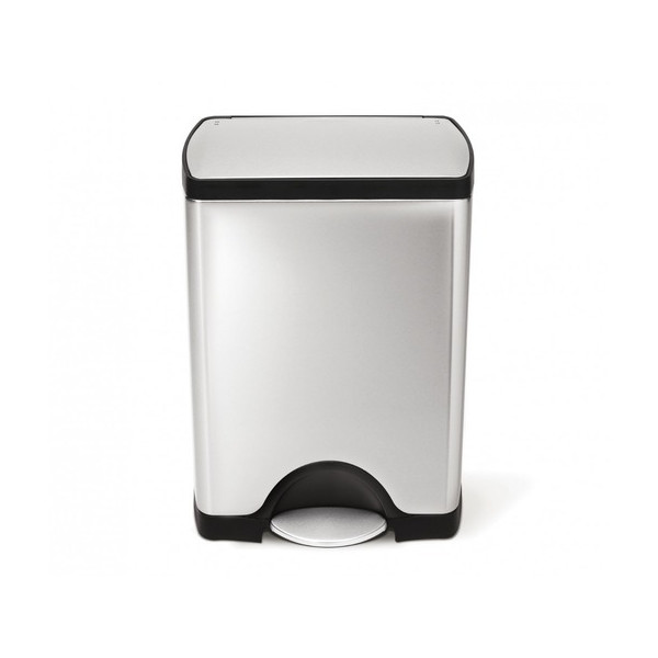 simplehuman Rectangular Step Trash Can, Fingerprint-Proof Brushed Stainless Steel, 30 Liters /8 Gallons