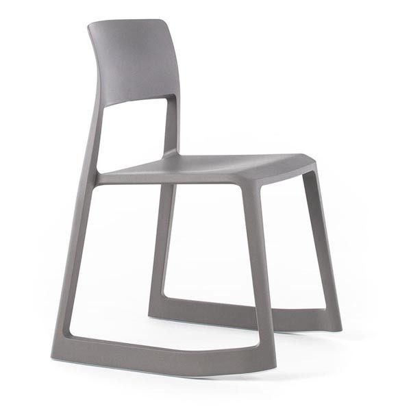 Vitra Tip Ton Stacking Chair, Earthy Grey