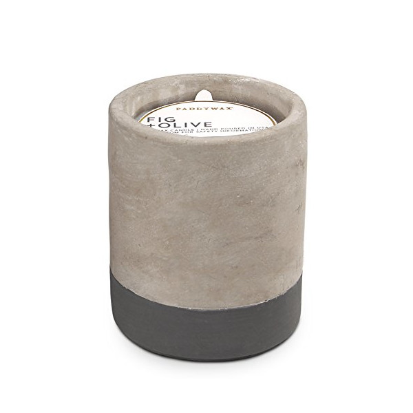 Urban Collection Soy Wax Candle In Concrete Pot, 3.5-Ounce, Fig & Olive