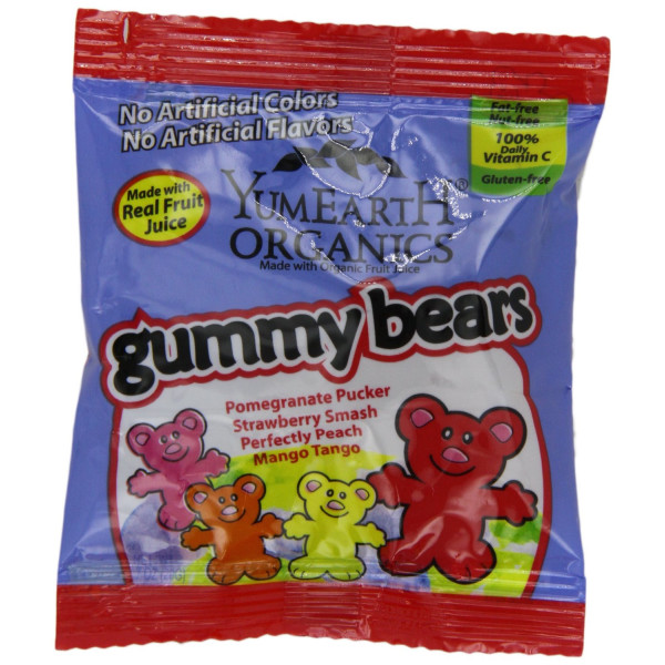 YumEarth Organic Gummy Bears, 50 Count