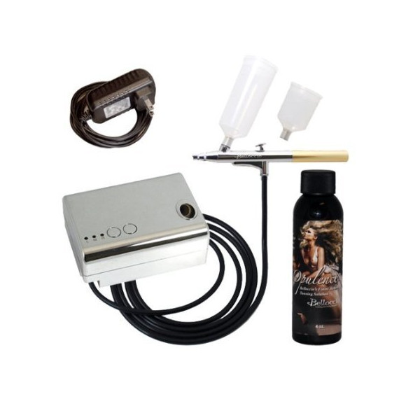 "Belloccio® Brand Complete Professional Sunless Tanning Airbrush System That Includes Our Premium Belloccio Airbrush, Compressor & Hose and a 4 Ounce Bottle of ""Opulence"" By Belloccio, the Finest Tanning Solution Available Today That Works on All Skin Type"