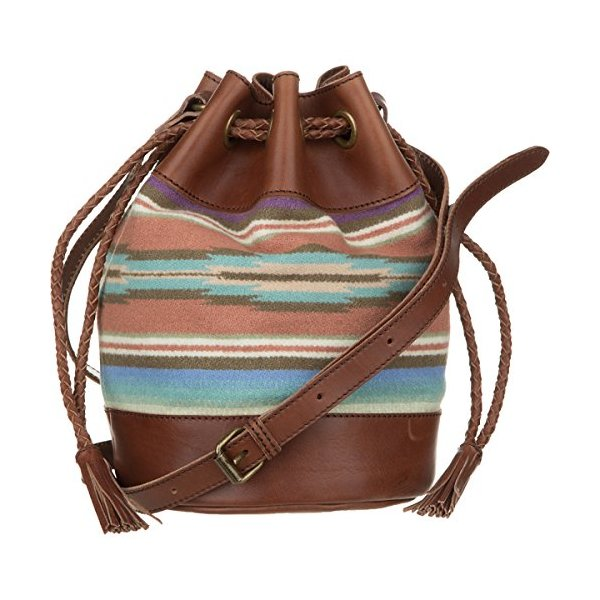 Pendleton, The Portland Collection Women's Small Bucket Bag, Agave Stripe, One Size