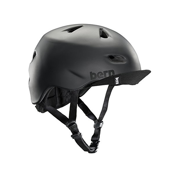 Bern Unlimited Brentwood Summer Helmet with Flip Visor, Matte Black, Large/X-Large
