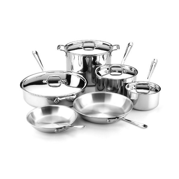 All-Clad Gourmet Stainless Steel 10-Piece Cookware Set
