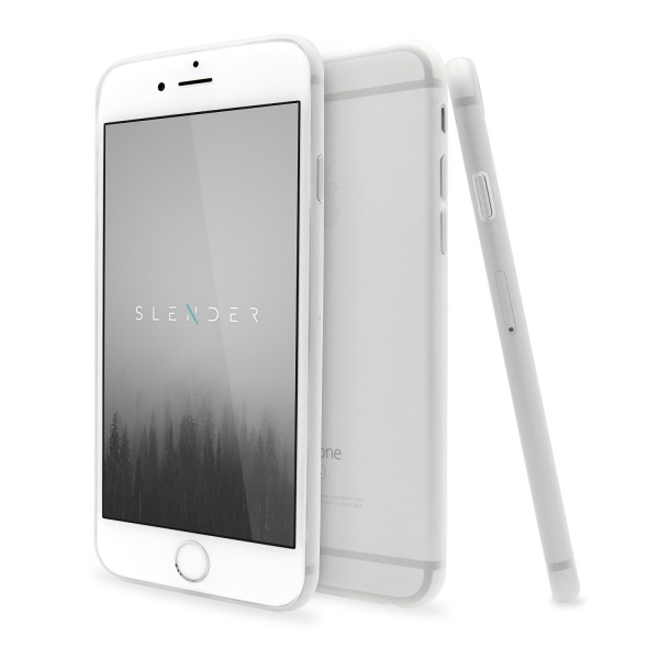 SlenderCase for iPhone 6, 6S Phone Case (4.7-Inch) Extra Thin Clear Hard Shell, Camera Protection And 360 Degree Side Coverage (Frosty Matte Clear)