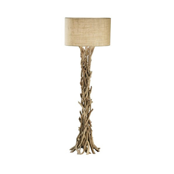Modern Home Nautical Driftwood Floor Lamp