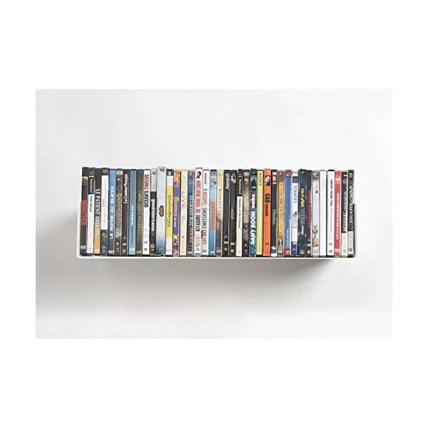 "DVD and CD shelf ""UCD"" by TEEbooks - Supports up to 56 CDs / 40 DVDs - White"