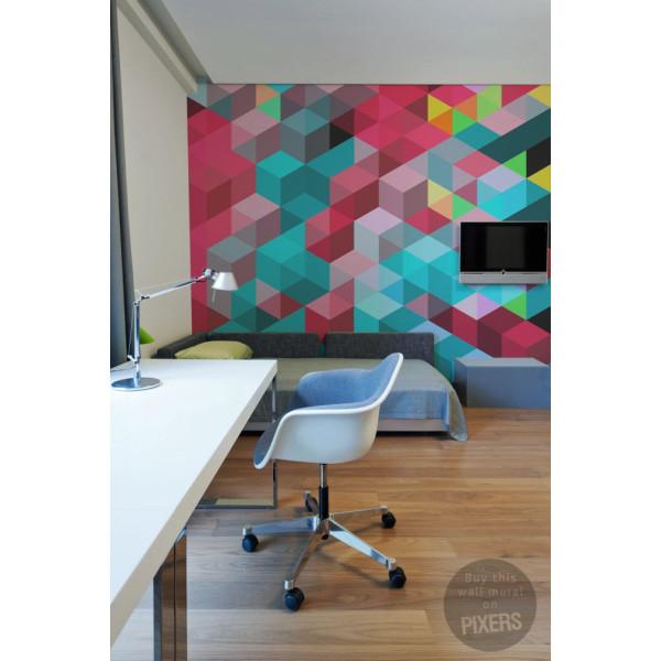 Geometric Jacket PIXERStick Adhesive Wall Mural