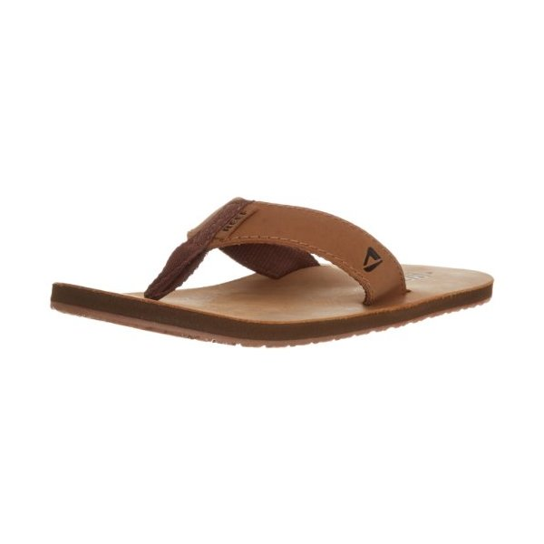 Reef Men's Leather Smoothy Sandal, Bronze/Brown, 11 M US