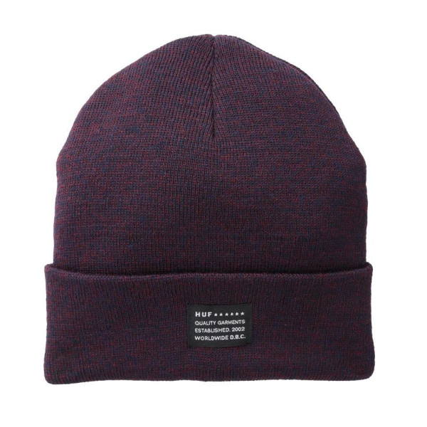 HUF Mixed Yarn Beanie, Wine/Navy