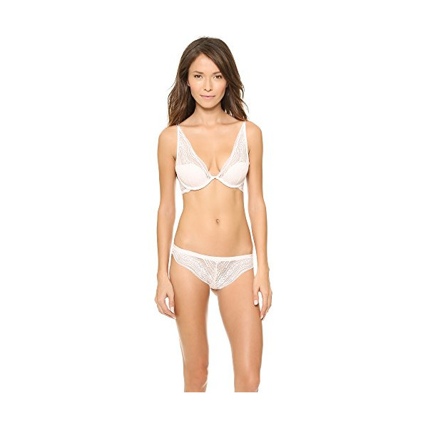 Calvin Klein Women's Infinite Lace Convertible Provocative Plunge Bra, Nymphs Thigh, 34D