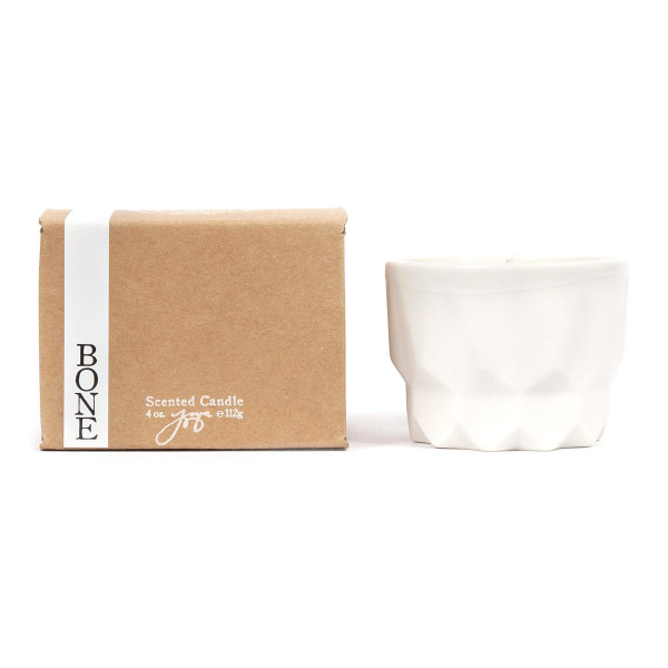 Joya Prism Candle, Bone