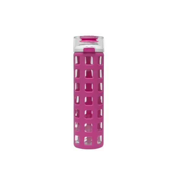 Ello 20-oz Glass Water Bottle with Flip Lid