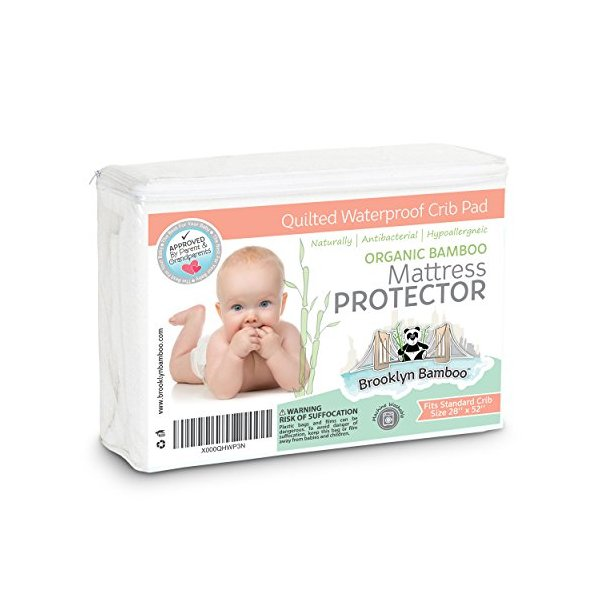 Brooklyn Bamboo Softest Organic Bamboo Crib and Toddler Mattress Pad Protector