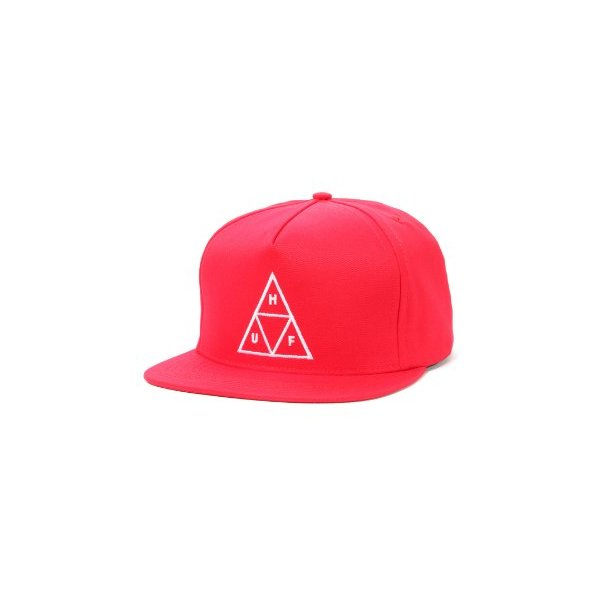 HUF Men's Triple Triangle Snapback One Size Red