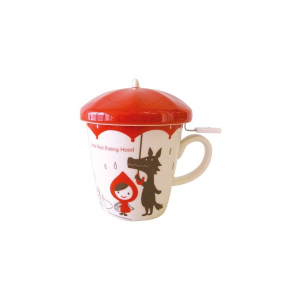 Decole Otogicco Little Red Riding Hood Mug with Tea Strainer/Infuser