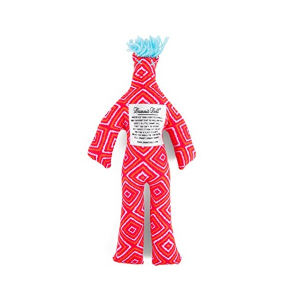 Dammit Doll - Classic Dammit Doll - Raisonnement Spatial - Dragonfruit Coral & Pink, Sky Blue Hair - Stress Relief, Gag Gift