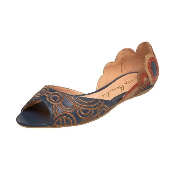 Luiza Barcelos Women's FS034D Peep-Toe Flat