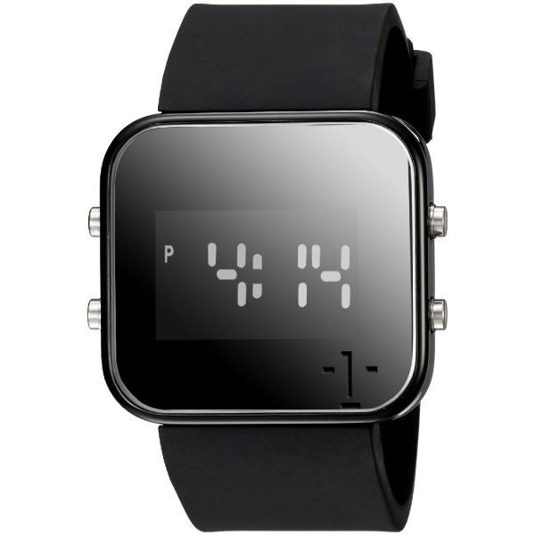 "1Face Unisex C1105 ""Cancer"" Digital Display Black Watch"