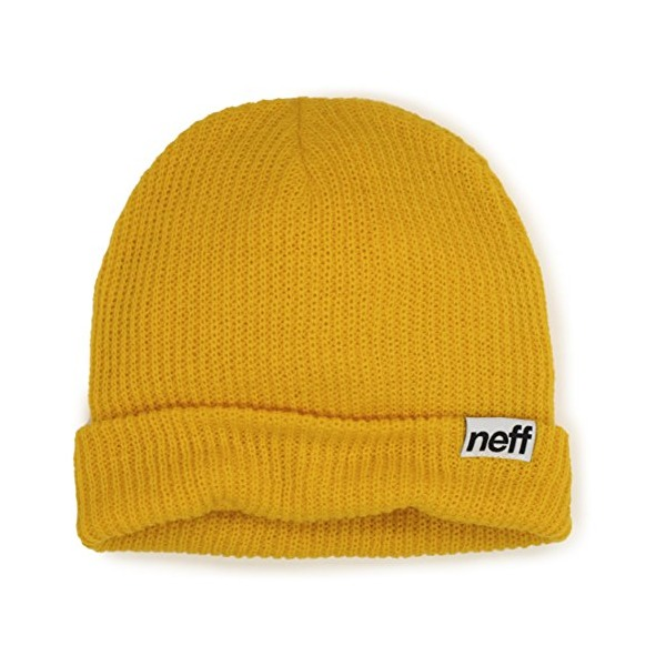 neff Men's Fold Beanie, Yellow, One Size