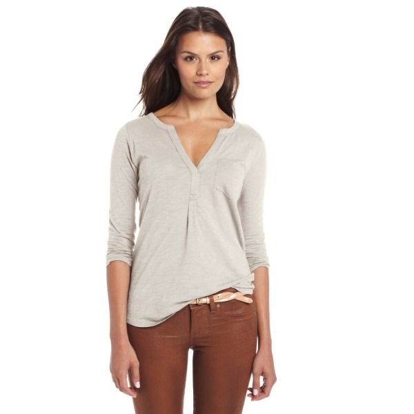 Lucky Brand Women's Bela Henley, Nigori, Medium