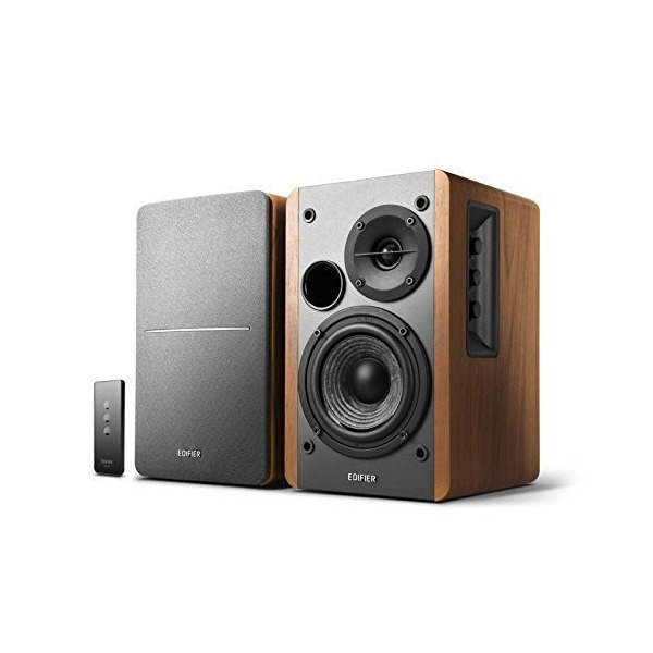 Edifier R1280T Powered Bookshelf Speakers - 2.0 Active Near Field Monitor - Studio Monitor Speakers - Wooden Enclosure - 42 Watts RMS