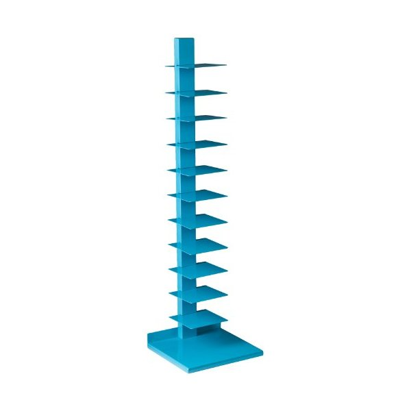 Southern Enterprises Daisy Spine Book/Media Tower, Berry Blue