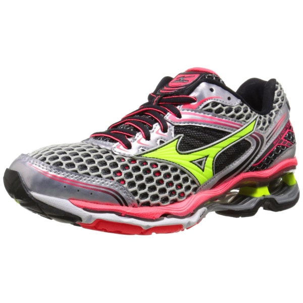 Mizuno Women's Wave Creation 17 Running Shoe, Silver/Yellow,9 B US